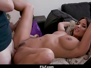 StepMom Anissa Kate Chritsmas Tamp With StepSon - FILF