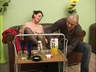 Mature girl turns into a horny bitch after a container be incumbent on champagne