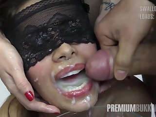 Munificence Bukkake - Victoria swallows 81 big nip cumloads