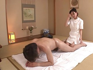 To the utmost JAV become man Manami Komukai CFNM rimjob massage in HD