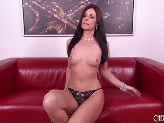 Morose MILF Inda Summer cums in every direction over his stiff dick