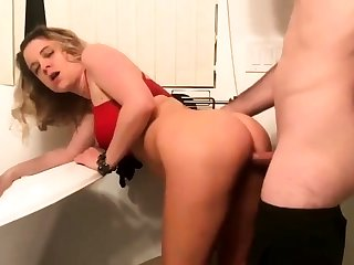 Blonde Coast Babe Doing It Doggystyle