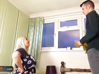 AgedLovE Ancient Chesty Blond Grandmothers Lacey Hard-Core
