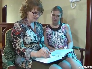 Blond Russian matured is at hand alongside poke a new all girl woman relating to a cord- on