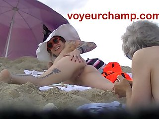 VoyeurChamp.com - Exhibitionist Wife Mrs Ginary Exposed Beach!