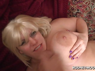 Blonde BBW Tiffany Blake Broad in the beam Fat Titties POV