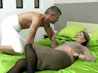 Sexy grandma suck and fellow-feeling a amour lucky boy