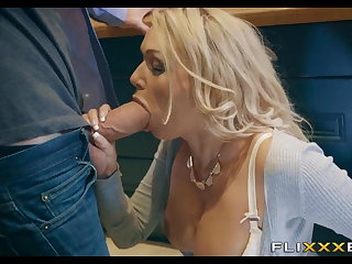 Simmering MILF gets Fucked up the kitchen