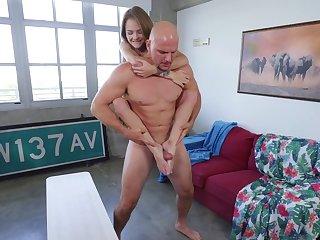Little Dani Lynn tossed around via a hot hardcore fuck