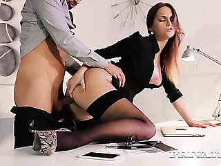 Sizzling hot young office girl is marketable for say no to handsome successful colleague