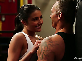 Martial art spitfire Adria Rae gets totally into riding her coach on top