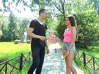 Skinny teen Malyshka Che nailed everlasting in her pussy doggystyle