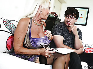Sexy big breasted therapist Westminster their way client into having sex with their way