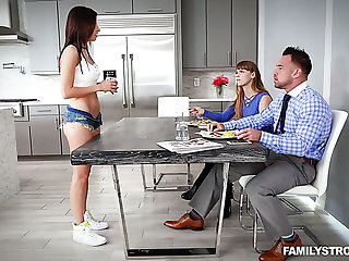 As soon as MILF leaves the room naughty Shavelle Love lures stud be advantageous to sex