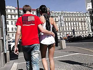 Sweet brunette gets fucked speed her lewd boyfriend
