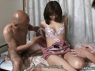Svelte and pretty Japanese housewife Juri Kitahara gets warmed up apart from men