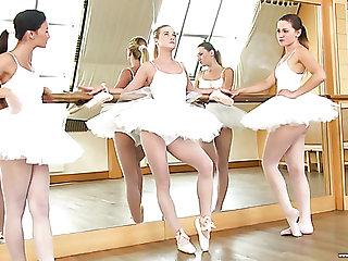 Valerie Fox is one cute ballerina who loves lesbian three way encounters