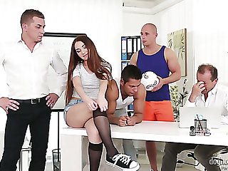Error-free hottie Stacy Snake twists out to be a malleable old bag who loves gangbang