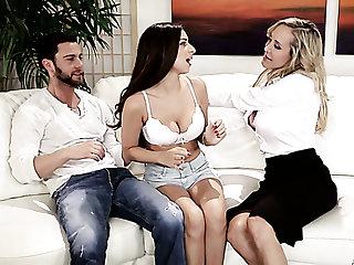 An unforgettable threesome sex with surprising hottie Brandi Love
