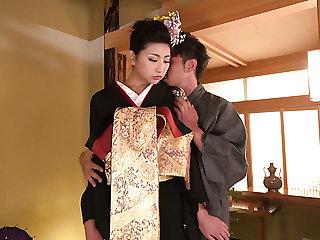Japanese svelte hottie Yuna Shiratori gets fucked missionary style