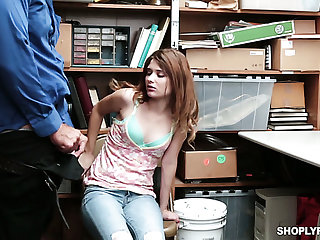 Caught red-handed cutie Ariel Mcgwire gets nailed hard form behind